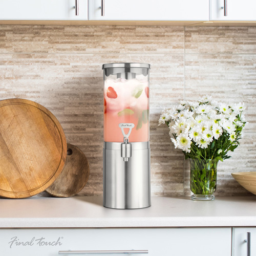 Final Touch steel Drinks Dispenser 1.5L